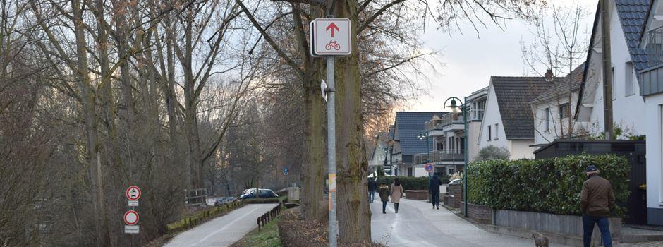 Links Eröm-Rächs Eröm? Radfahrer in Mondorf aufgepasst!
