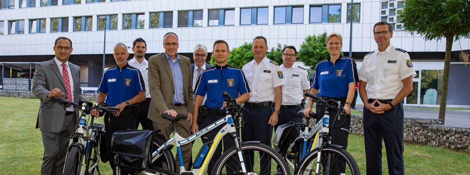 Die Wiesbadener Polizei ist jetzt auf E-Bikes unterwegs