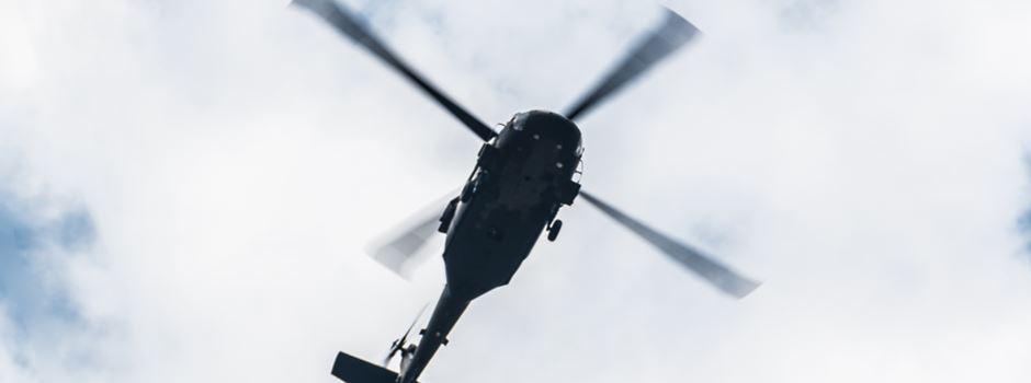 Polizei sucht mit Hubschrauber nach vermissten Mädchen