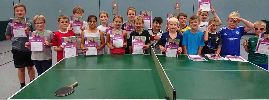 Erfolgreiche Tischtennis-Minis in Clarholz