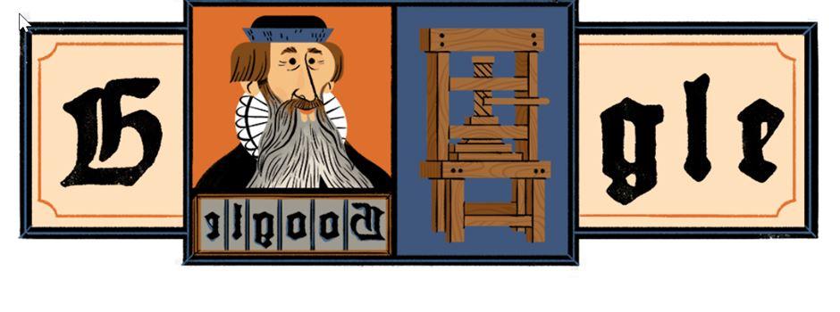 Google ehrt Johannes Gutenberg auf Startseite