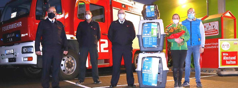 Niederkasseler Feuerwehr rettete verletzten Schwan