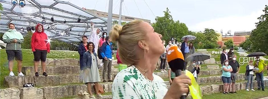 Unwetter: Fernsehgarten-Zuschauer müssen evakuiert werden