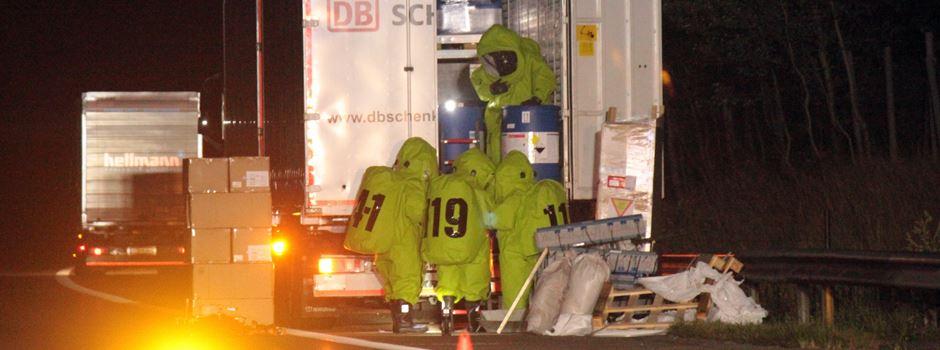 Gefahrguteinsatz: Polizei sucht Verursacher im Mercedes