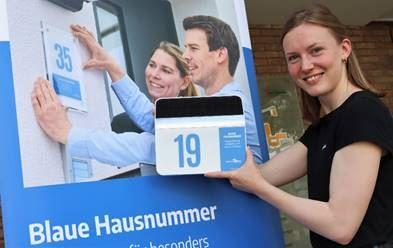 Kreisweiter Wettbewerb der Blauen Hausnummer in Herzebrock-Clarholz