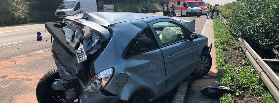 A3: Vier Verletzte nach Unfall