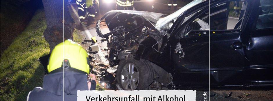 Verkehrsunfall mit Alkohol, ohne Führerschein