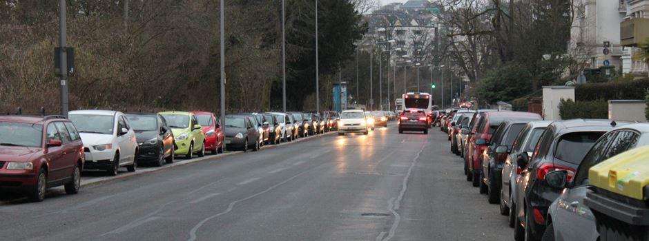91 Parkplätze weichen neuem Radweg in der Sonnenberger Straße