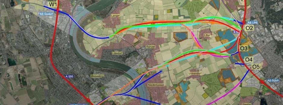 Brücke mit Anschlussstelle in Niederkassel?