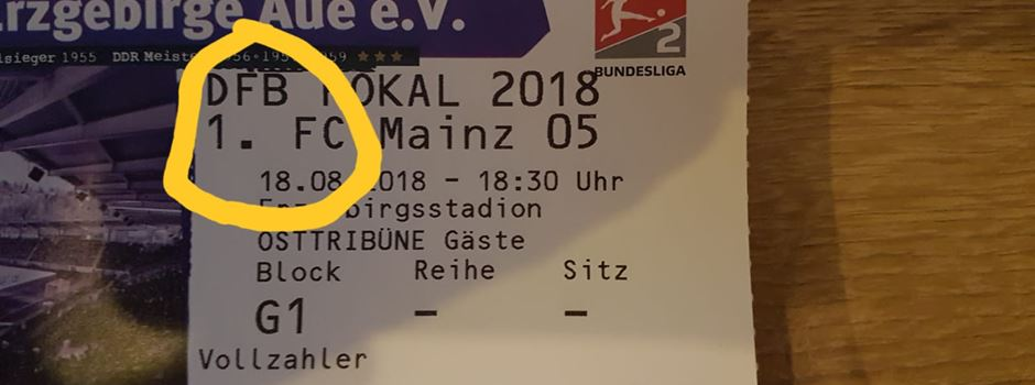 Peinliche Ticket-Panne vor Pokalspiel