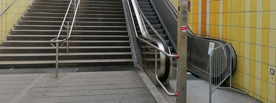 Warum die Rolltreppe am Mühlberg nicht funktioniert