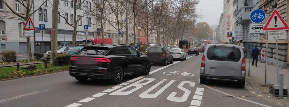Nur für Busse und Radfahrer: Neue Umweltspur am Bismarckring