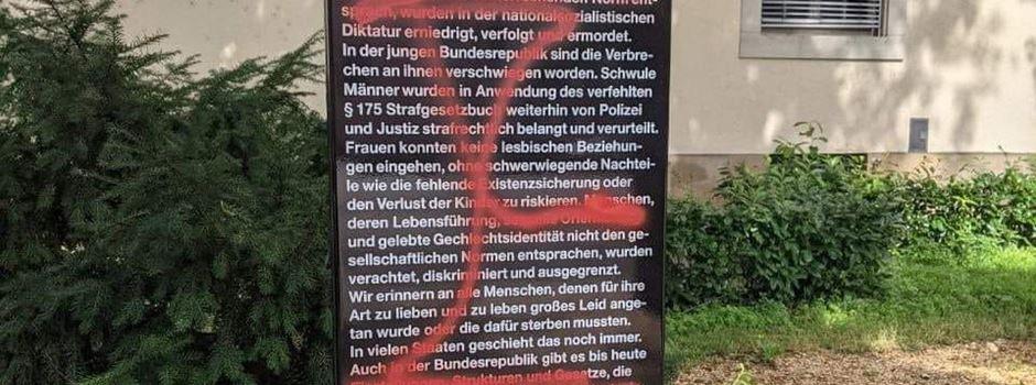 Unbekannte schänden neue Gedenkstele in Mainz