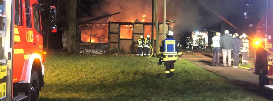 Scheunenbrand in Clarholz