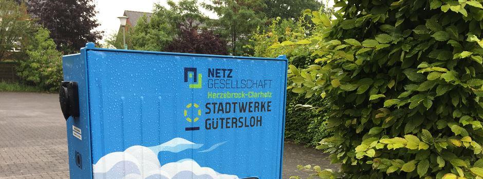 E-Ladesäule am Rathaus in Herzebrock außer Betrieb