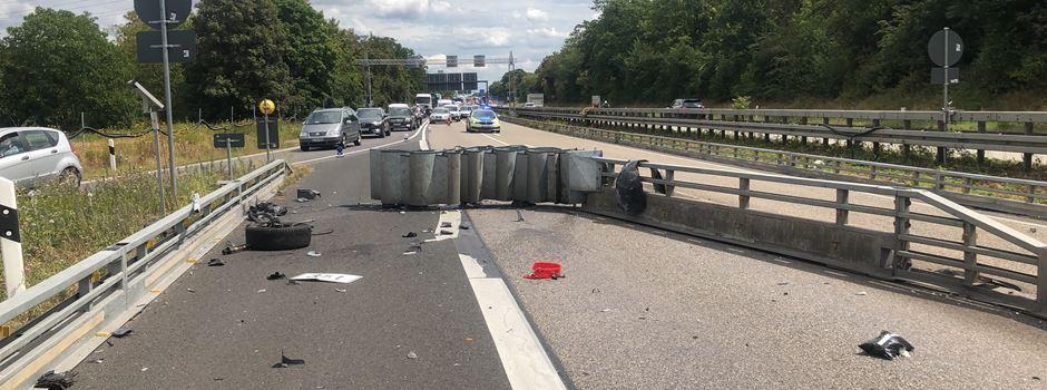 A66 nach Unfall in Richtung Rüdesheim vollgesperrt