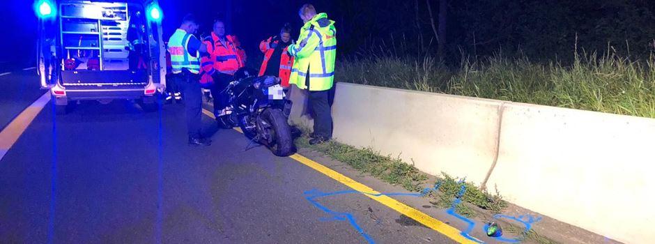 Update: Überhöhte Geschwindigkeit wohl Ursache für tödlichen Motorradunfall
