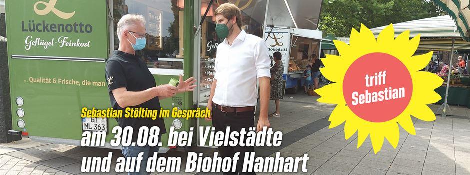 Wahlwerbung: Sebastian Stölting im Gespräch - am 30.08 bei Vielstädte und auf dem Biohof Hanhart