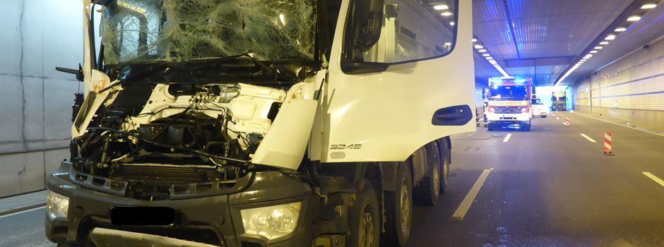 Hechtsheimer Tunnel nach Lkw-Unfall gesperrt