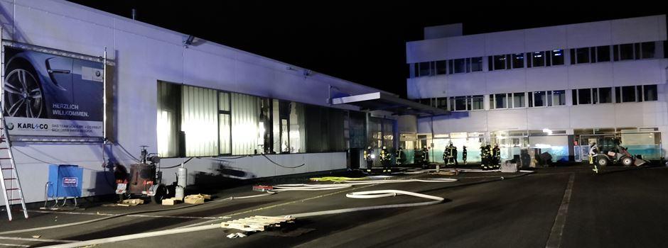 Feuer in Mainzer Autohaus