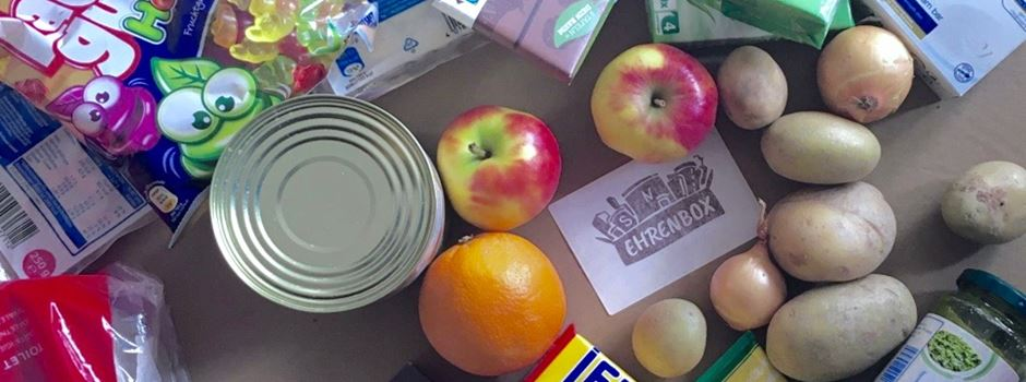 Aktion Ehrenbox bringt Lebensmittel ins Haus
