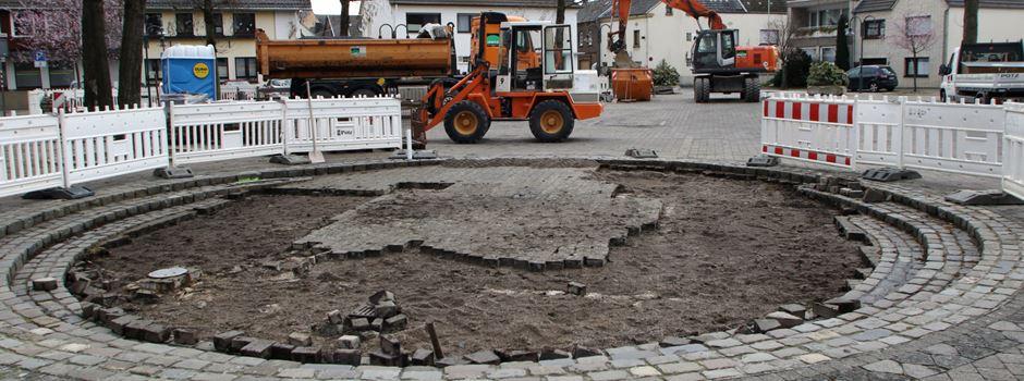 Beginn der Bauarbeiten am Adenauerplatz