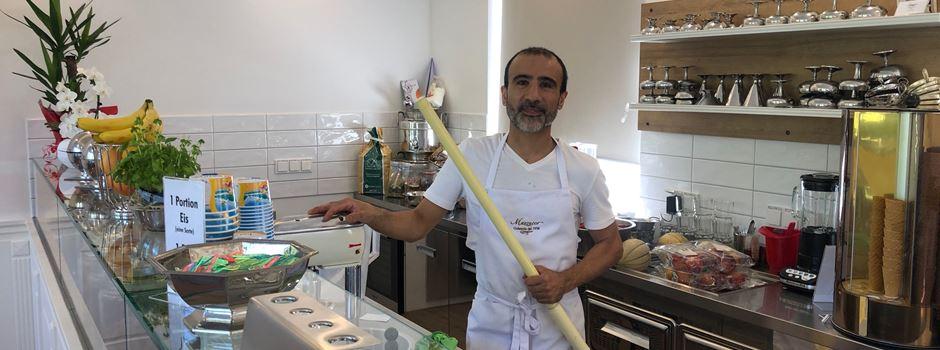 """""""Mazzucco Gelateria"""" serviert Eis in den Theaterkolonnaden"""