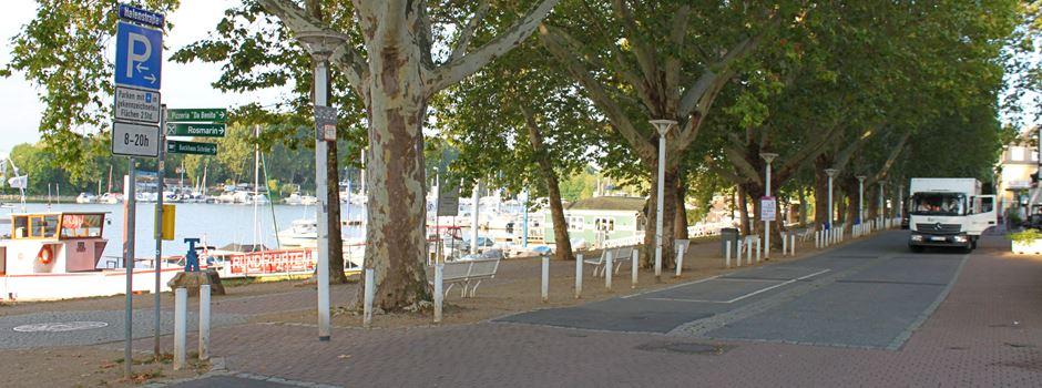 Weiter Warten auf Fußgängerzone in Schierstein