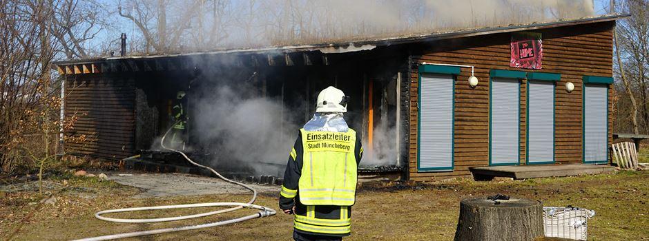 Müncheberger Jugendclub durch Brand schwer beschädigt