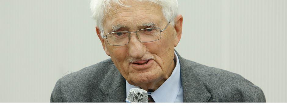 Jürgen Habermas spricht an der Goethe-Universität