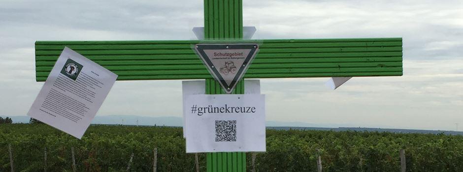 Was steckt hinter den grünen Kreuzen?