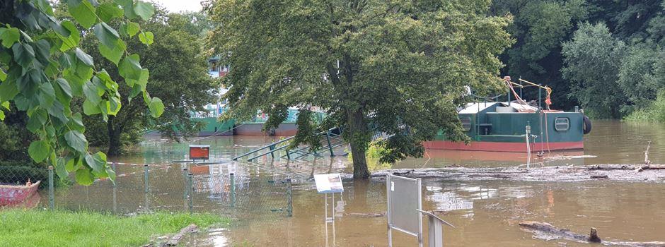 Hochwasser in Niederkassel: So sieht es aktuell an Rhein und Sieg aus