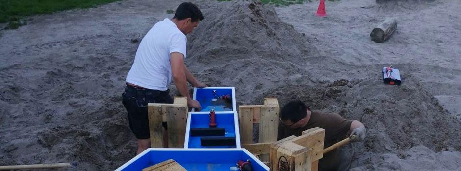 Wasserspielplatz fertiggestellt