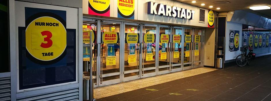 Karstadt-Filiale schließt schon am Freitag
