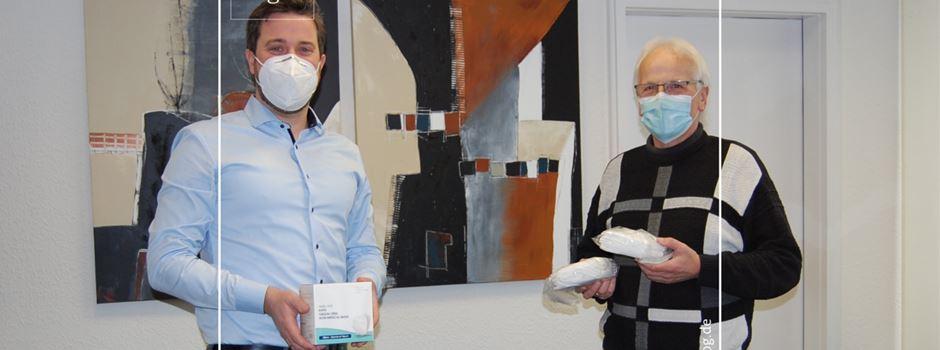 Gemeindeverwaltung verteilte kostenlose FFP2-Masken