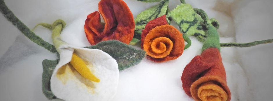 Blütengeschenke und Gartendekorationen