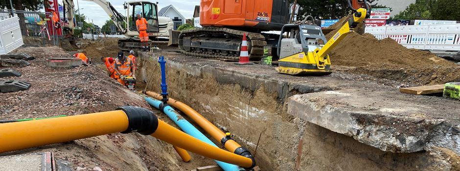 Neue Verkehrsführung an der Baustelle in der Boelckestraße