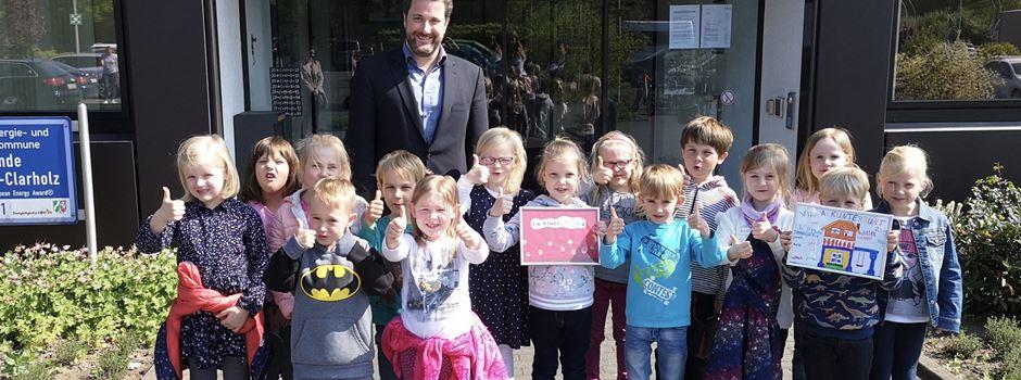 Norbertkindergartenkinder besuchten den Bürgermeister