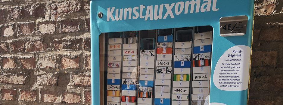 KunstAuxomat auf dem Stadtmarkt: Die AugsburgerInnen lieben ihn