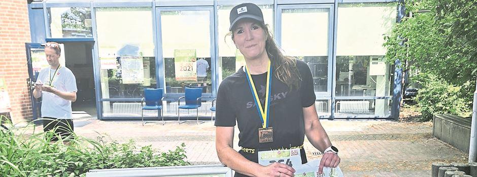 Läuferin Sonja Christiani belegt in Buchholz den 1. Platz in der W45