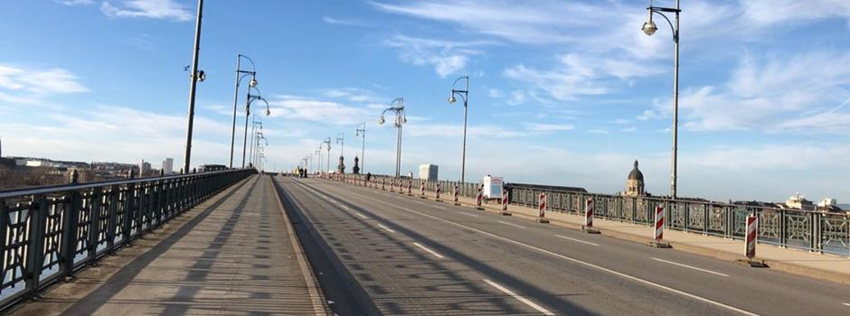 Baustelle auf der Theodor-Heuss-Brücke wird früher fertig als erwartet