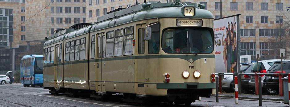 VGF feiert mit historischen Straßenbahnen
