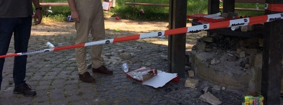 Vandalismus auf dem Grillplatz in Mondorf