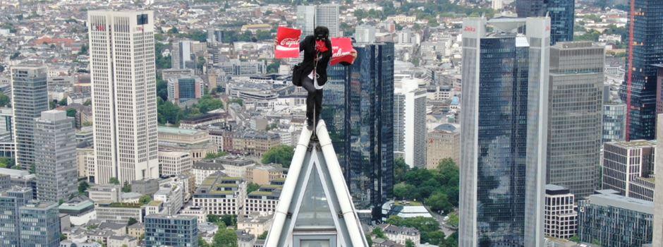 Wie Roofer unentdeckt auf den Frankfurter Messeturm klettern konnten