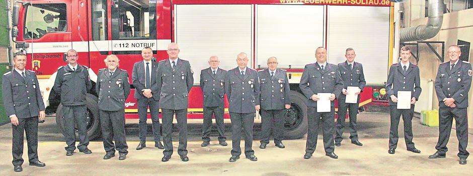 Soltauer Feuerwehr: Drei Mitglieder für 50 Jahre aktiven Dienst geehrt