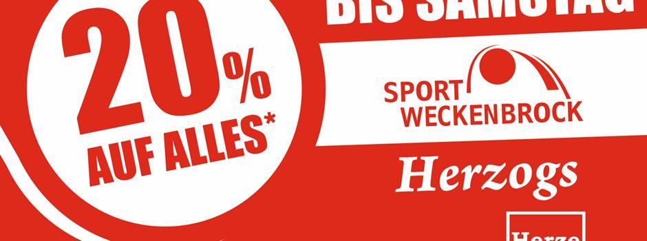 Anzeige: 20% auf alles bei Sport Weckenbrock und Herzogs