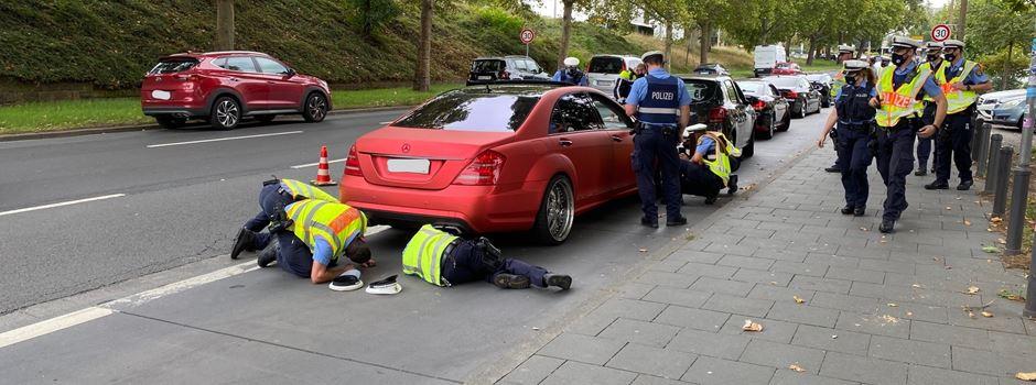Wie liefen die Autoposer-Kontrollen in Mainz?