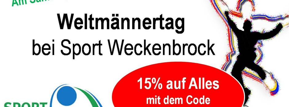Weltmännertag bei Sport Weckenbrock