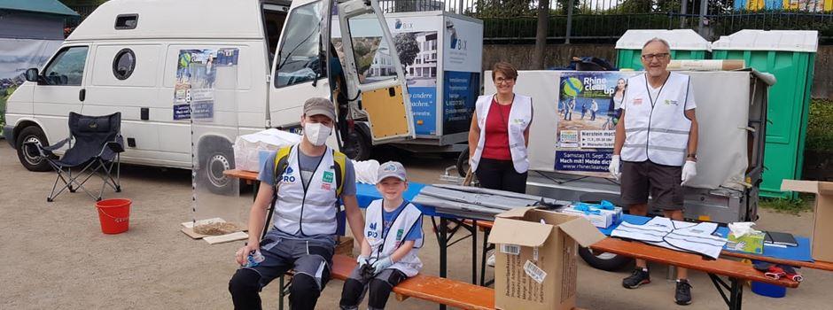 Über 50 freiwillige Helfer haben das Niersteiner Rheinufer von Müll und Zigarettenstummel befreit