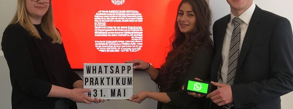 Werbung: WhatsApp-Praktikum bei der Kreissparkasse Wiedenbrück